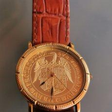 Relojes: RELOJ SUIZO MONEDA EL EXCELENTE EN PLATA MACIZA 925/1000 Y CHAPADO EN ORO 1ª LEY. A ESTRENAR. Lote 171528558