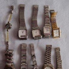 Relojes: LOTE DE 10 RELOJES QUARTZ SIN COMPROBAR CASIO, PERTEGAZ R90. Lote 171734402
