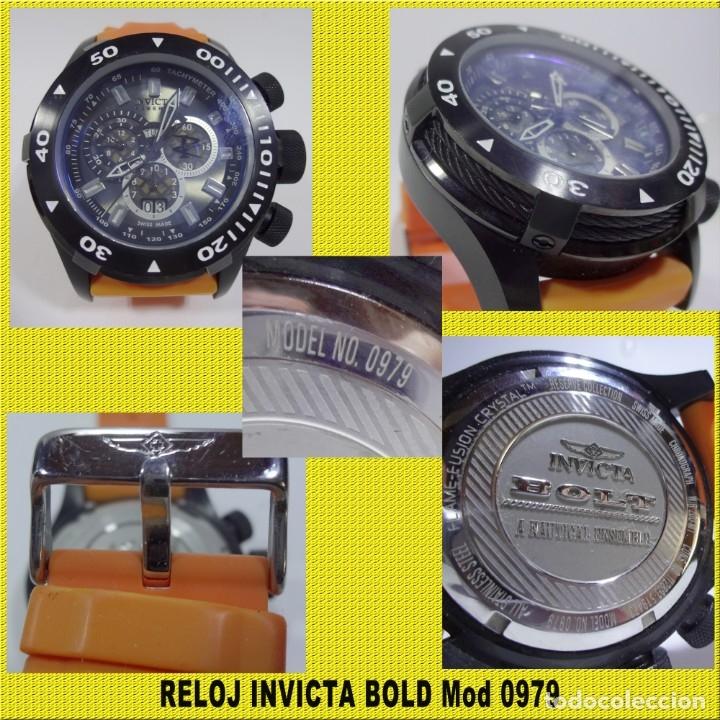 Relojes: RELOJ INVICTA BOLD Mod 0979 ** ORIGINAL ** MINIMO USO **VER FOTOS ** NO LO DEJES PASAR EL PRECIO - Foto 2 - 173022254