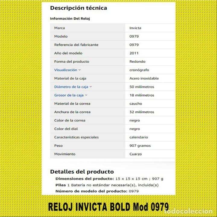 Relojes: RELOJ INVICTA BOLD Mod 0979 ** ORIGINAL ** MINIMO USO **VER FOTOS ** NO LO DEJES PASAR EL PRECIO - Foto 3 - 173022254