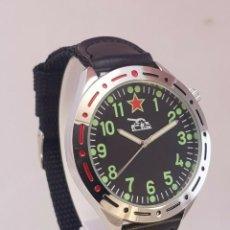 Relojes: RELOJ MILITAR COMANDANTE DE TANQUES RUSO - TANK 1980 NUEVO EN CAJA - ESFERA 38.MM DIAMETRO. Lote 194590002
