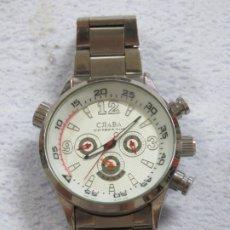 Relojes: BONITO RELOJ AUTOMATICO MARCA CJIABA RUSO, CORREA DE ACERO Y CASI SIN USO, FUNCIONA PERFECTO. Lote 174285050