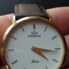 Relojes: RELOJ MARVIN SUIZO CHAPADO EN ORO. CUARZO. Lote 175204803