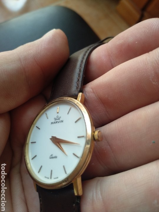 Relojes: Reloj Marvin suizo chapado en oro. Cuarzo - Foto 3 - 175204803