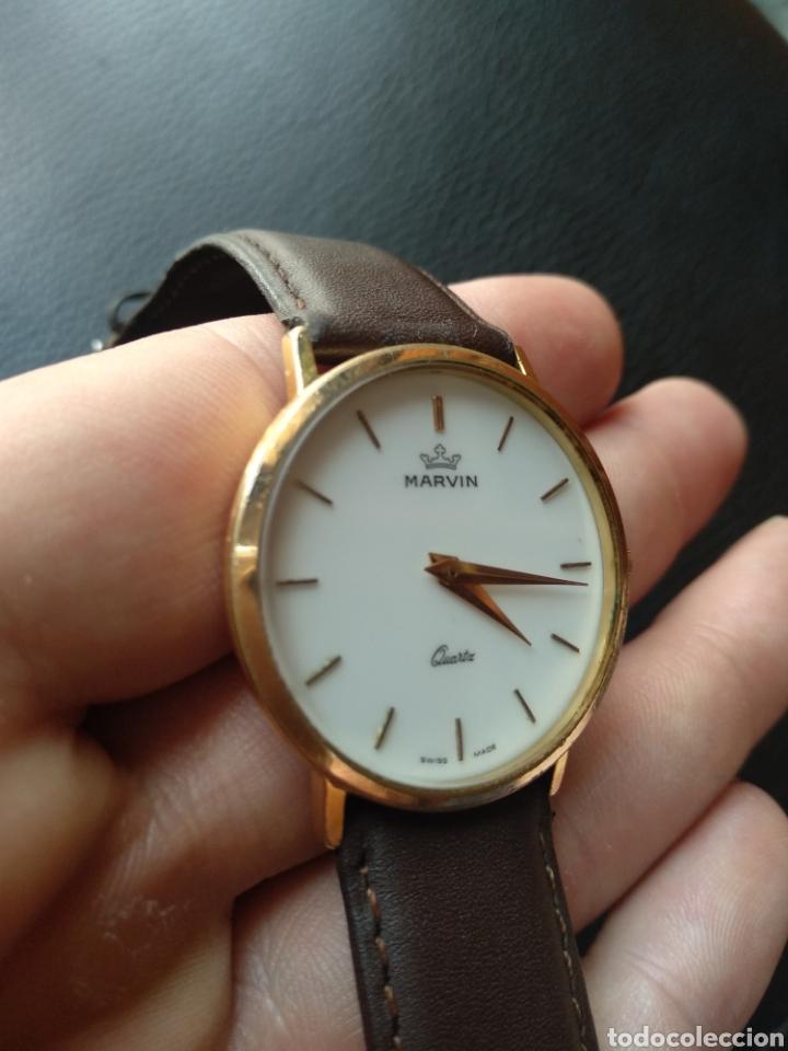 Relojes: Reloj Marvin suizo chapado en oro. Cuarzo - Foto 2 - 175204803