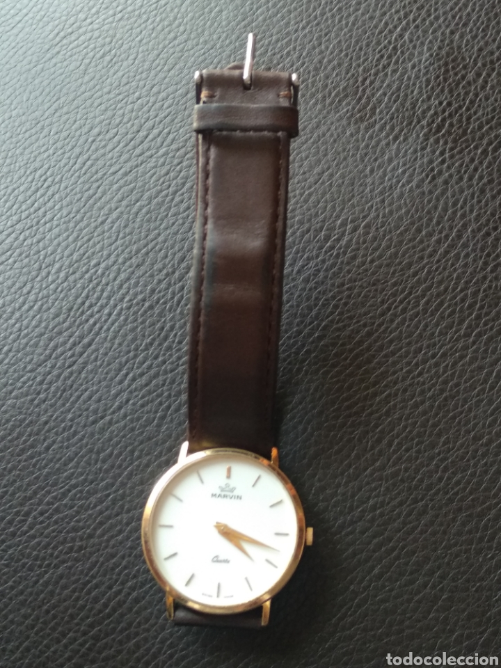 Relojes: Reloj Marvin suizo chapado en oro. Cuarzo - Foto 10 - 175204803