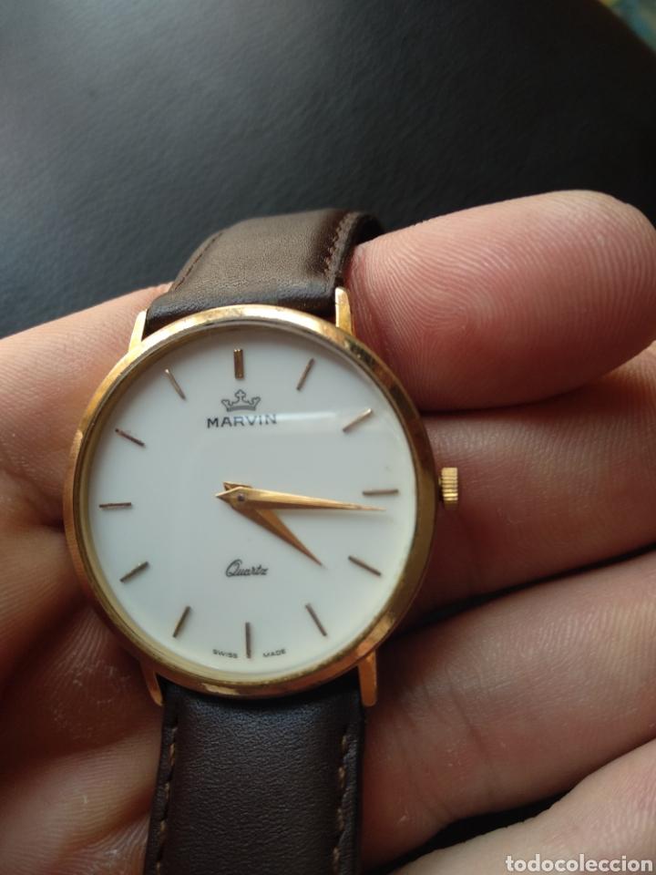 Relojes: Reloj Marvin suizo chapado en oro. Cuarzo - Foto 6 - 175204803