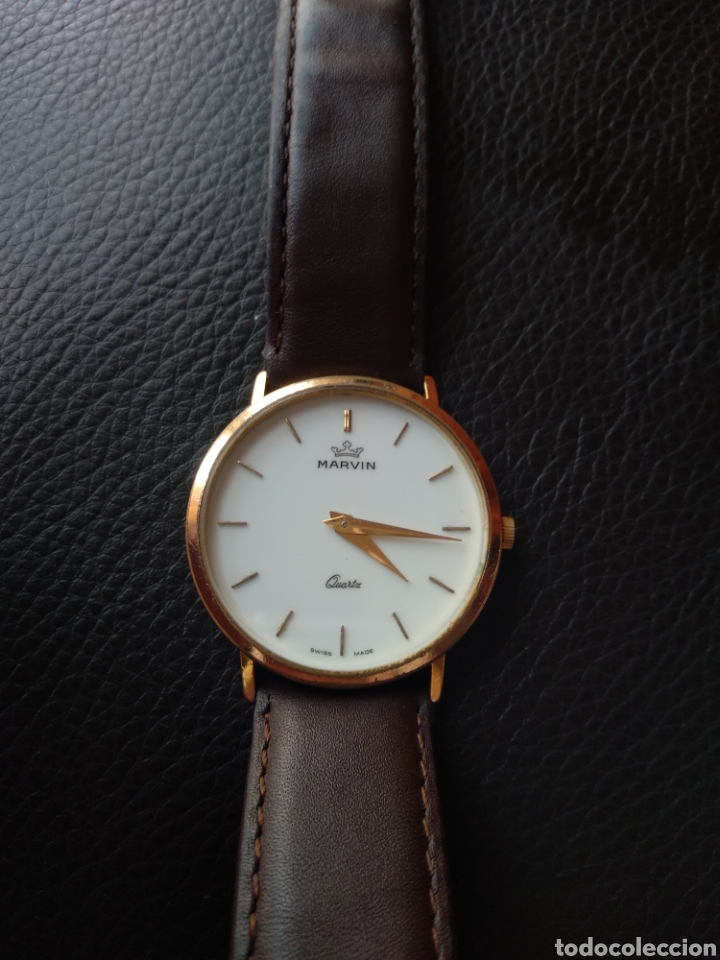 Relojes: Reloj Marvin suizo chapado en oro. Cuarzo - Foto 4 - 175204803
