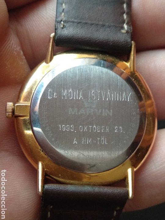 Relojes: Reloj Marvin suizo chapado en oro. Cuarzo - Foto 8 - 175204803