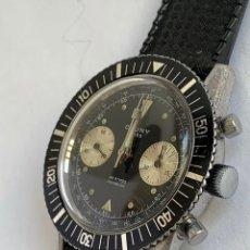 Relojes: RELOJ VINTAGE CAUNY CHRONOGRAPH DIVERS INCABLOC 20ATMOS SWISS. Lote 175298905