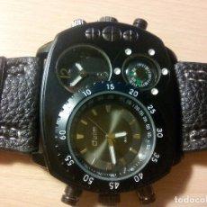 Relojes: RELOJ PULSERA /DOBLE HORA Y BRUJULA.. Lote 175608955