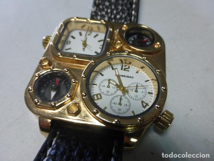 Relojes: BRUTALISTA RELOJ shiweibao J1108 marca para hombre Fashion Cool piel gran Bial cuarzo deportes - - Foto 6 - 175626304