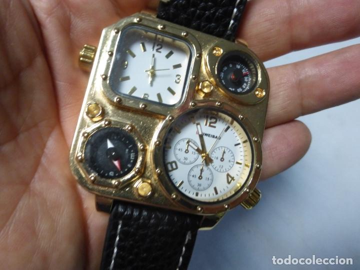 BRUTALISTA RELOJ SHIWEIBAO J1108 MARCA PARA HOMBRE FASHION COOL PIEL GRAN BIAL CUARZO DEPORTES - (Relojes - Relojes Actuales - Otros)