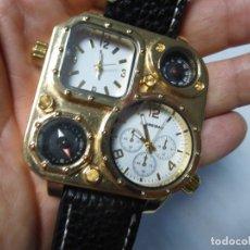 Relojes: BRUTALISTA RELOJ SHIWEIBAO J1108 MARCA PARA HOMBRE FASHION COOL PIEL GRAN BIAL CUARZO DEPORTES -. Lote 175626304