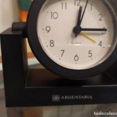 Relojes: RELOJ DESPERTADO PUBLICITARIA ARGENTARIA FUNCIONA PILAS 130 X 120MM. Lote 175821060