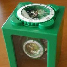 Relojes: CUBO RELOJ Y DESPERTADOR STAR WARS YODA. Lote 176763260