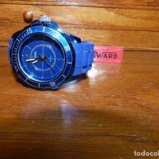Relojes: DUWARD - ACERO AZULADO CABALLERO,, 2 AÑOS DE GARANTIA. Lote 177639917