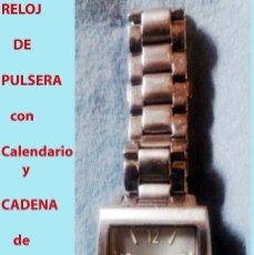Relojes: RELOJ DUCCE GABBANA,RESIST. AL AGUA,ESFERA PLATEADA,SECUNDERO,CALENDARIO.CADENA ORIGINAL. SEMINUEVO.. Lote 178272490