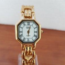 Relojes: RELOJ SEÑORA ORIENT DE CUARZO CHAPADO DE ORO, CORREA DE ACERO CHAPADO DE ORO, RELOJ STOCK RELOJERIA . Lote 178369561