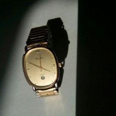 Relojes: RELOJ DESRA. DORADO DE32X27 M.M. MARCA DIGMBEL CON VENTANILLA DE FECHA DÍAS.. Lote 179171793