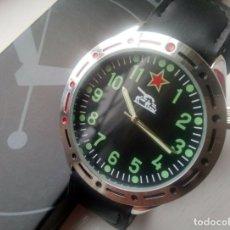 Relojes: RELOJ MILITAR COMANDANTE DE TANQUES RUSO - TANK 1980 NUEVO EN CAJA - ESFERA 38.MM DIAMETRO. Lote 179251542