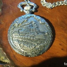 Relojes: RELOJ DE BOLSILLO LORENS QUARTZ, CON CADENA, FUNCIONANDO PILA NUEVA. Lote 179391796