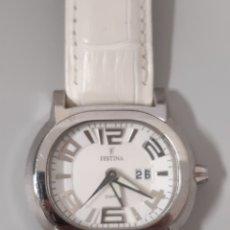 Relojes: RELOJ FESTINA DE MUJER BLANCO. Lote 179526322