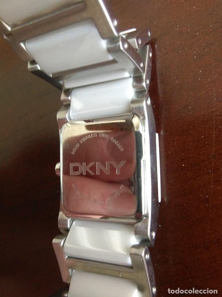 Relojes: reloj de pulsera de señora DKNY de ceramica blanca y acero inoxidable.nuevo.sin caja.dona karan.. - Foto 2 - 179954436