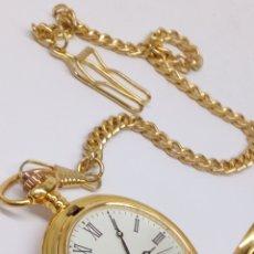 Relojes: RELOJ DE BOLSILLO QUARTZ CON MONEDA DE PLATA UNA PESETA 1869. Lote 180171507