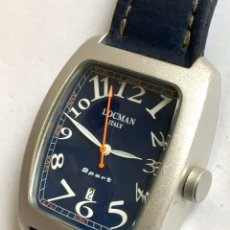 Relojes: RELOJ VINTAGE LOCMAN ITALY SPORT DATE ALUMINIUM CASE WATER RESISTANT QUARTZ. Lote 181446787