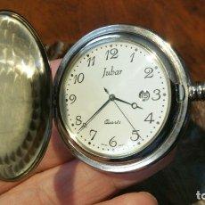 Relojes: RELOJ DE BOLSILLO JUBAR QUARTZ GRABADO - FUNCIONANDO. Lote 181586570
