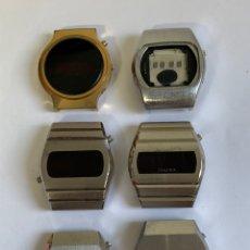 Relojes: LOTE DE 6 RELOJES VINTAGE LED ROJO NO FUNCIONAN. Lote 181750957