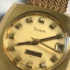 Relojes: RELOJ VINTAGE SEARS SICURA SELFWINDING AUTOMÁTIC CALENDAR SWISS MADE. Lote 181941310