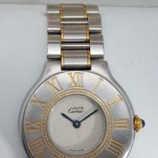 Relojes: CARTIER-ACERO-ORO LAMINADO-MUJER-COMO NUEVO. Lote 183729548