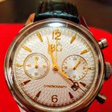 Relojes: RELOJ AVIADOR CRONOGRAFO BG MAGNIFICO RELOJ DE COLECCIÓN MOVIMIENTO ANALOGICO.. Lote 186305471