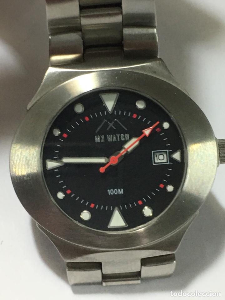 RELOJ MX WATCH 100M EN ACERO COMPLETO COMO NUEVO (Relojes - Relojes Actuales - Otros)