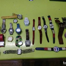 Relojes: LOTE DE 25 RELOJES VARIOS, SIN PILA, DOGMA, LOTUS, REDSKY Y MAS. Lote 187370596
