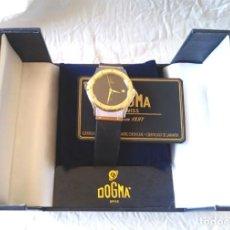Relógios: RELOJ DOGMA ACERO SUIZO, CALENDARIO, CORREA CAUCHO, COMO NUEVO.. Lote 213752991