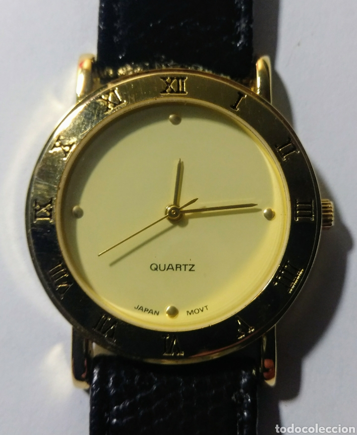 RELOJ QUARTZ. JAPAN MOV'T. CORREA DE PIEL. (Relojes - Relojes Actuales - Otros)