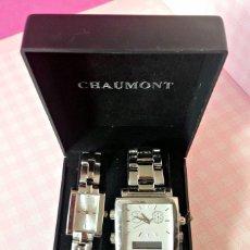 Relojes: PAREJA RELOJES EN CAJA CHAUMONT. Lote 188805167