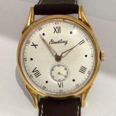 Relojes: BREITLING BAÑO PLAQUE ORO 18KT. VINTAGE 1.945. Lote 189654581