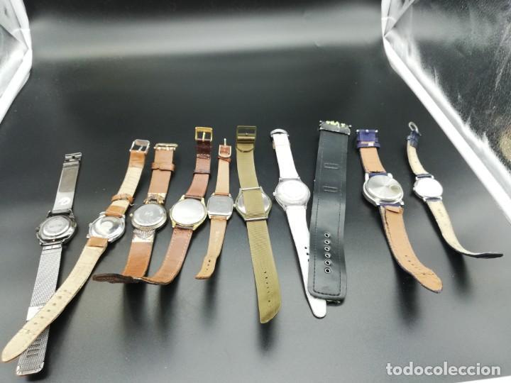 Relojes: LOTE 10 RELOJES FALTA PILA - Foto 5 - 189773973