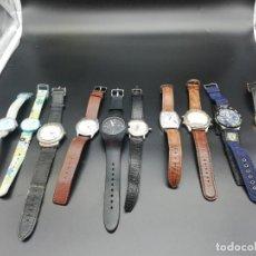 Relojes: LOTE 10 RELOJES FALTA PILA. Lote 189773973
