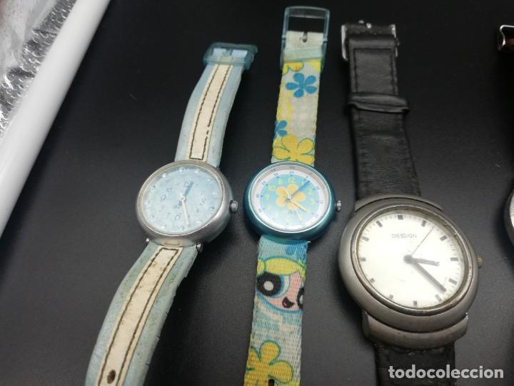 Relojes: LOTE 10 RELOJES FALTA PILA - Foto 2 - 189773973