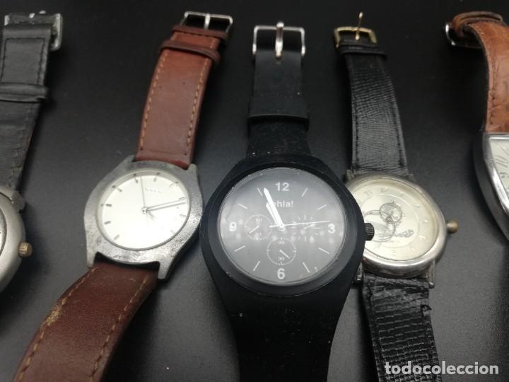 Relojes: LOTE 10 RELOJES FALTA PILA - Foto 3 - 189773973