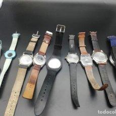 Relojes: LOTE 9 RELOJES FALTA PILA. Lote 189774230