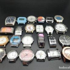 Relojes: GRAN LOTE 24 RELOJES PULSERA FALTA PILA. Lote 189888583