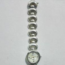 Relojes: RELOJ DE MUÑECA SEÑORA, CAJA Y PULSERA DE PLATA, MEDIDAS 19 CM. Lote 190437240
