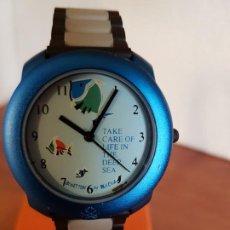 Relojes: RELOJ DE SEÑORA UNISEX (VINTAGE) BENETTON BY BULOVA DE ACERO CAJA COLOR AZUL RELOJ NUEVO DE STOCK. Lote 190862345
