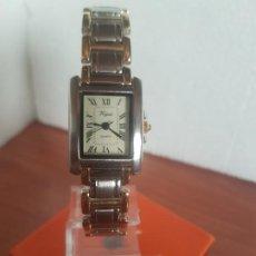 Relojes: RELOJ DE SEÑORA VOGUE DE CUARZO BICOLOR, ESFERA BLANCA CON NÚMEROS ROMANOS, CORREA DE ACERO BICOLOR. Lote 191269268